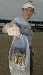 Cigarette butts are a prolific problem on beaches all over the Space Coast
