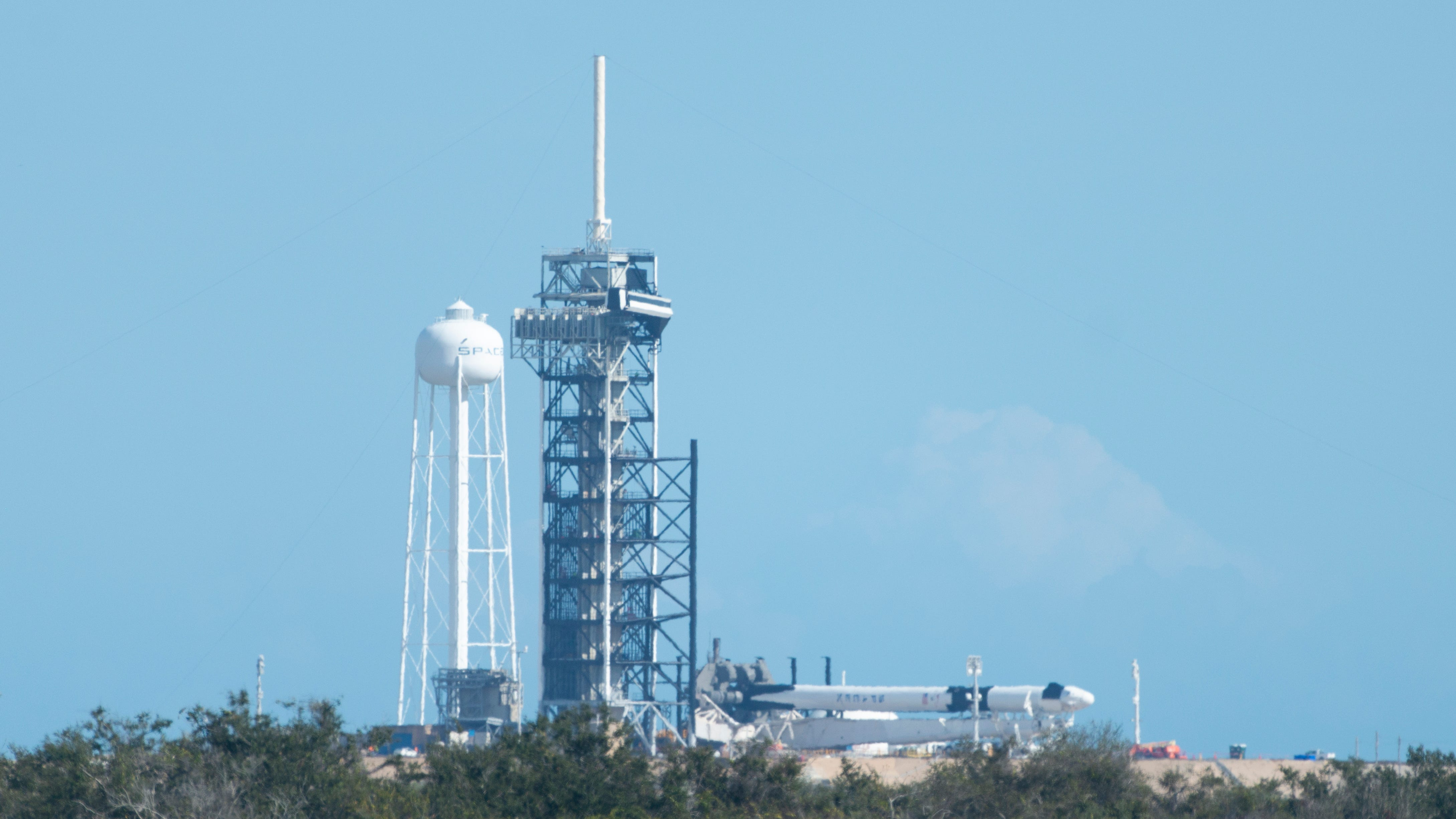 SpaceX's Crew Dragon spacecraft appears for the...
