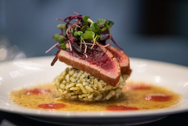 Chili-seared ahi tuna is one of the seven courses on the menu for the final dinner in Café Margaux's 2018-19 wine dinner season.