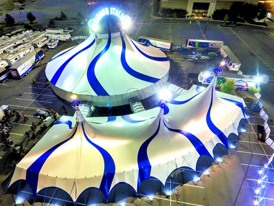 Cirque Italia shows are preformed in a climate-controlled tent.
