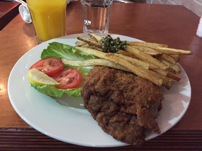 The milanesa clasica at the Dale Boca Argentinean Cafe in Winooski on Jan. 2, 2019.
