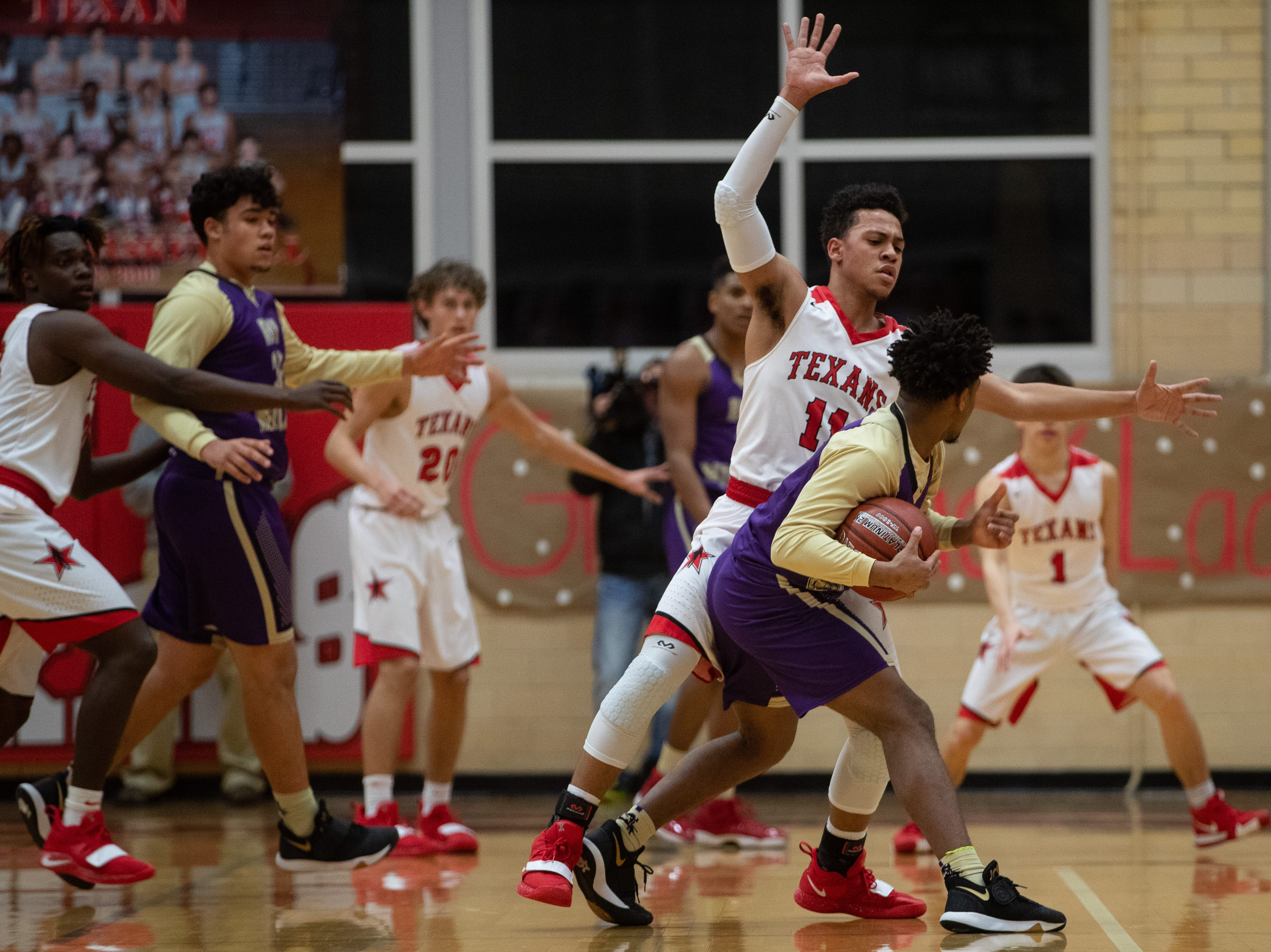 Ray basketball defeats Miller 61-48 at Ray High School on Wednesday, Jan. 2, 2019.