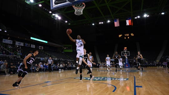 Jashawn Talton scores in transition to help Texas A&M-Corpus Christi cap an 8-0 run to earn an 87-75 win over Central Arkansas in the Southland Conference men's basketball opener on Wednesday, Jan. 3, 2018 at the American Bank Center.