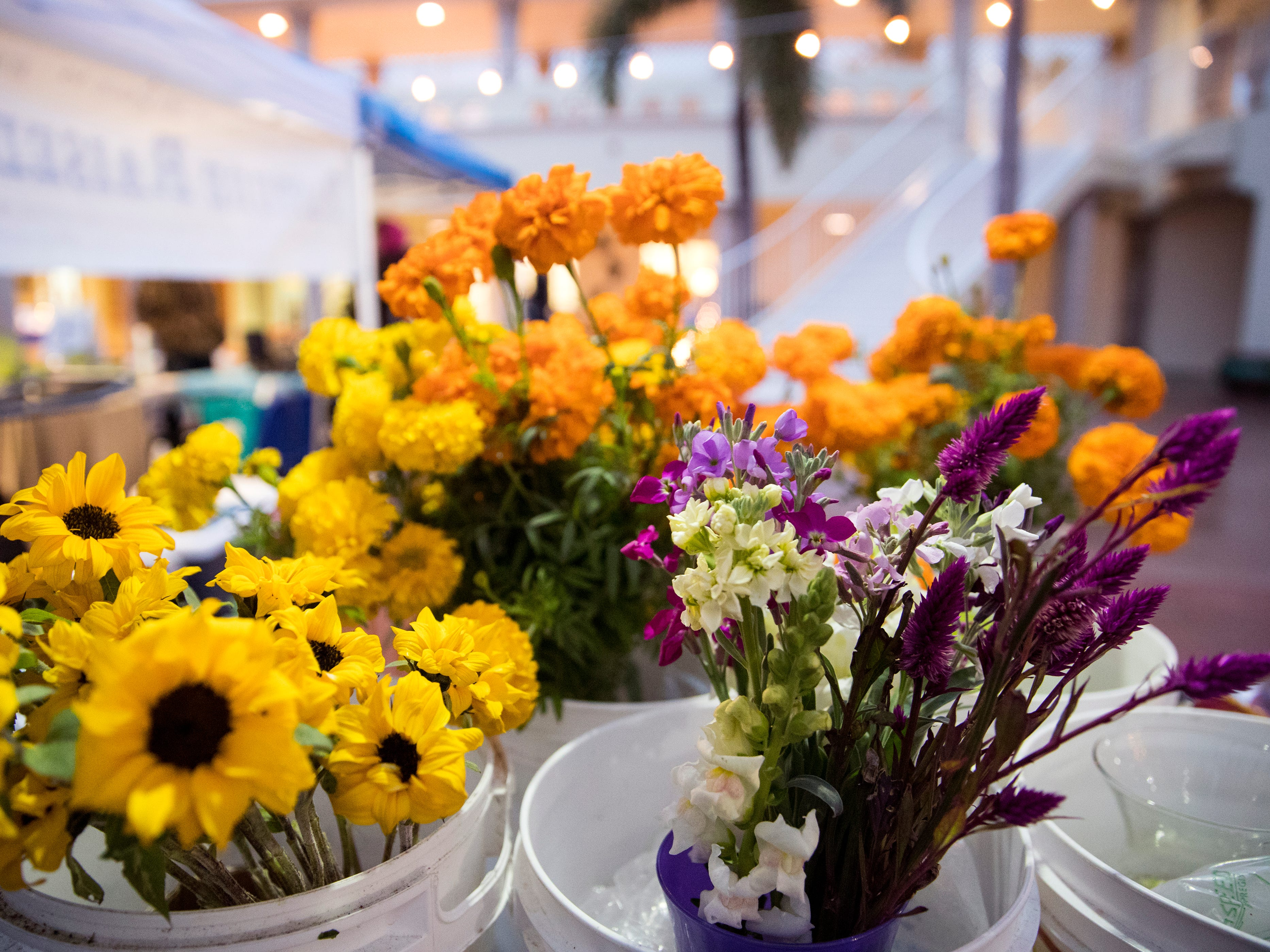 The Corpus Christi Downtown Farmers Market offers items such as fresh flowers at their weekly market. It is open weekly on Wednesday from 5 to 8 pm at 100 N. Shoreline Blvd.