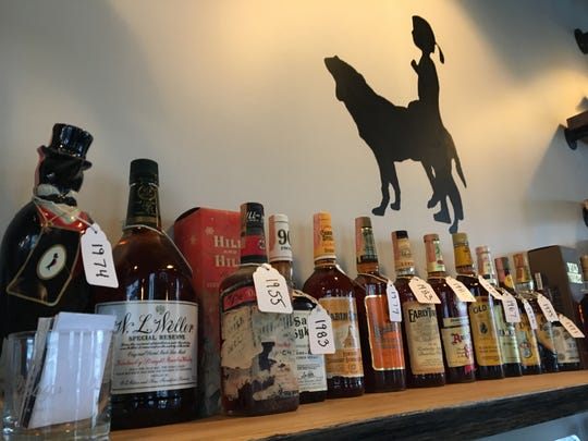 Libby's features a collection of antique bourbons.