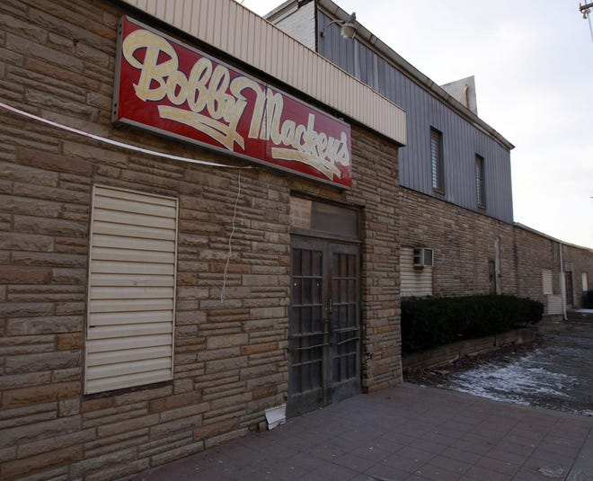 A January 2009 view of the exterior of Bobby Mackey's in Wilder, opened in 1978 inside the same building as the former Latin Quarter casino.