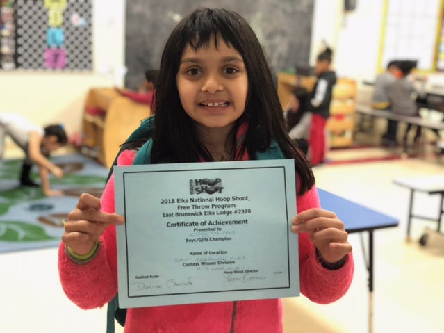 Ipsita Das of the Y's after school program was the 9 year-old female champion.