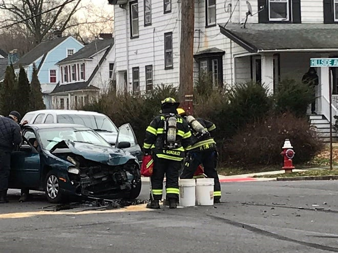 Drivers from two vehicles were taken to the hospital after their vehicles crashed at the intersection of Hillside and Putnam avenues after the car ran the stop sign.