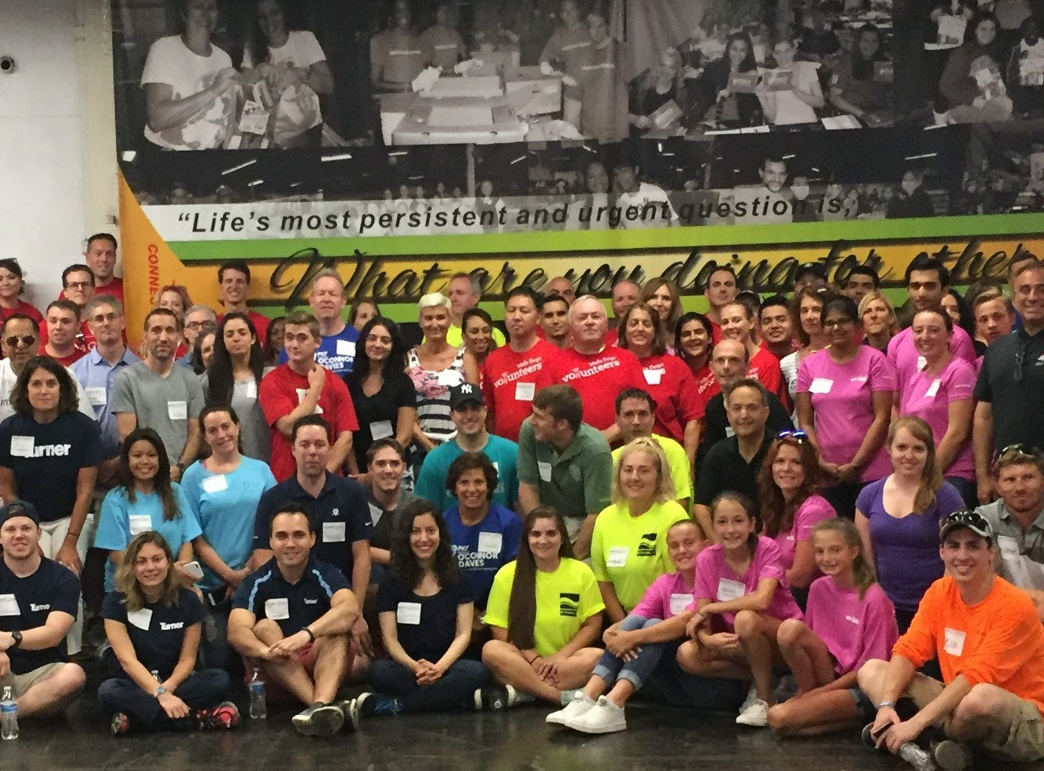 Volunteers from 46 member companies at the Community FoodBank of New Jersey in Hillside for NAIOP New Jersey's 2018 Community Action Volunteer Day last July.