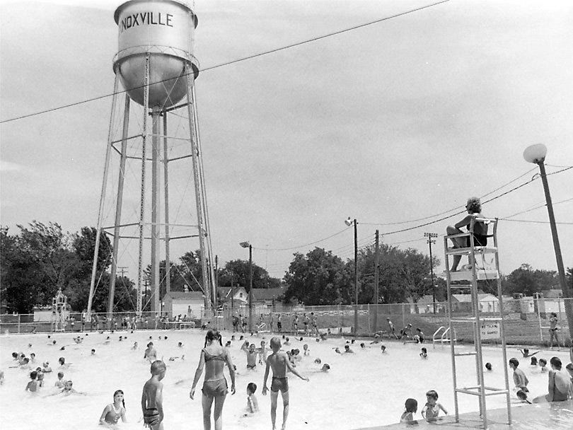 The Knoxville, Iowa pool drew more than a thousand visitors a day in 1969.