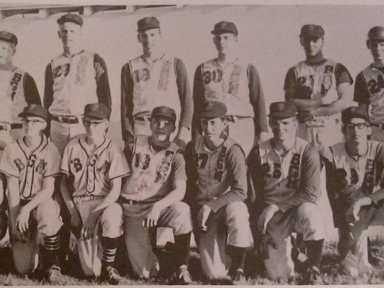The 1969 BGM baseball team included: Front row from left, Dennis Purdy, John Lippincott, Gene Rhinehart, Dave Jermier, Donn Stone, Dave Kloock, Ben Walter, John Morton and Robert Drake. Second row, Head Coach James Barr, Harold Whitsell, Gary Cleppe, Dennis McCulla, Dave McCulla, Jim Schwiebert, Jim Nervig, Pat Akery and Mark Walford.