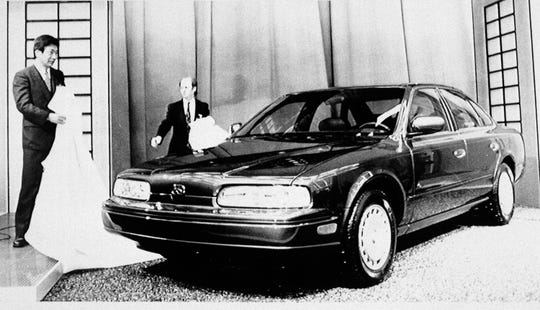 Nissan's Infiniti brand debuted with the Q45 sedan at the 1989 North American International Auto Show in Detroit.