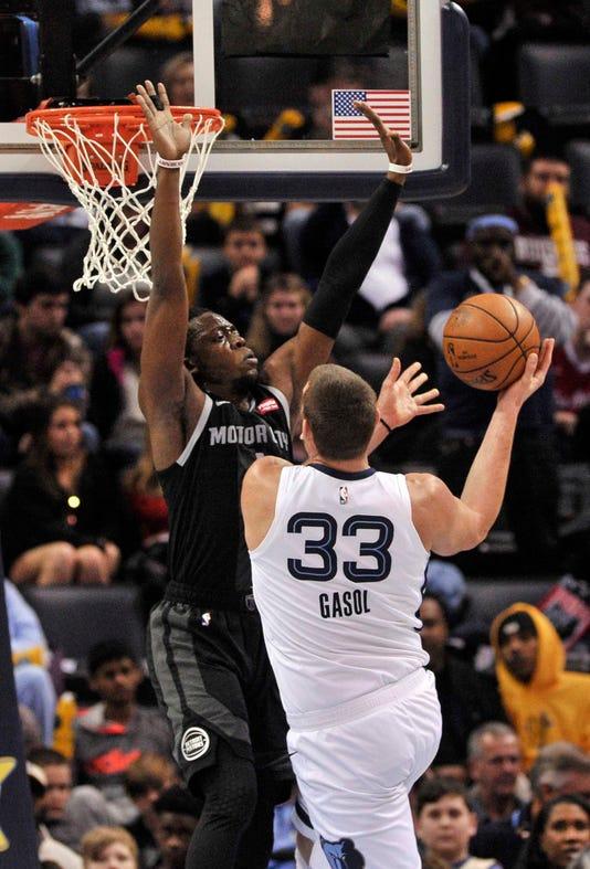 Nba Detroit Pistons At Memphis Grizzlies
