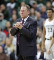 Michigan State head coach Tom Izzo watches the action against Northwestern Wednesday, January 2, 2019 at the Breslin Center in East Lansing, Mich.
