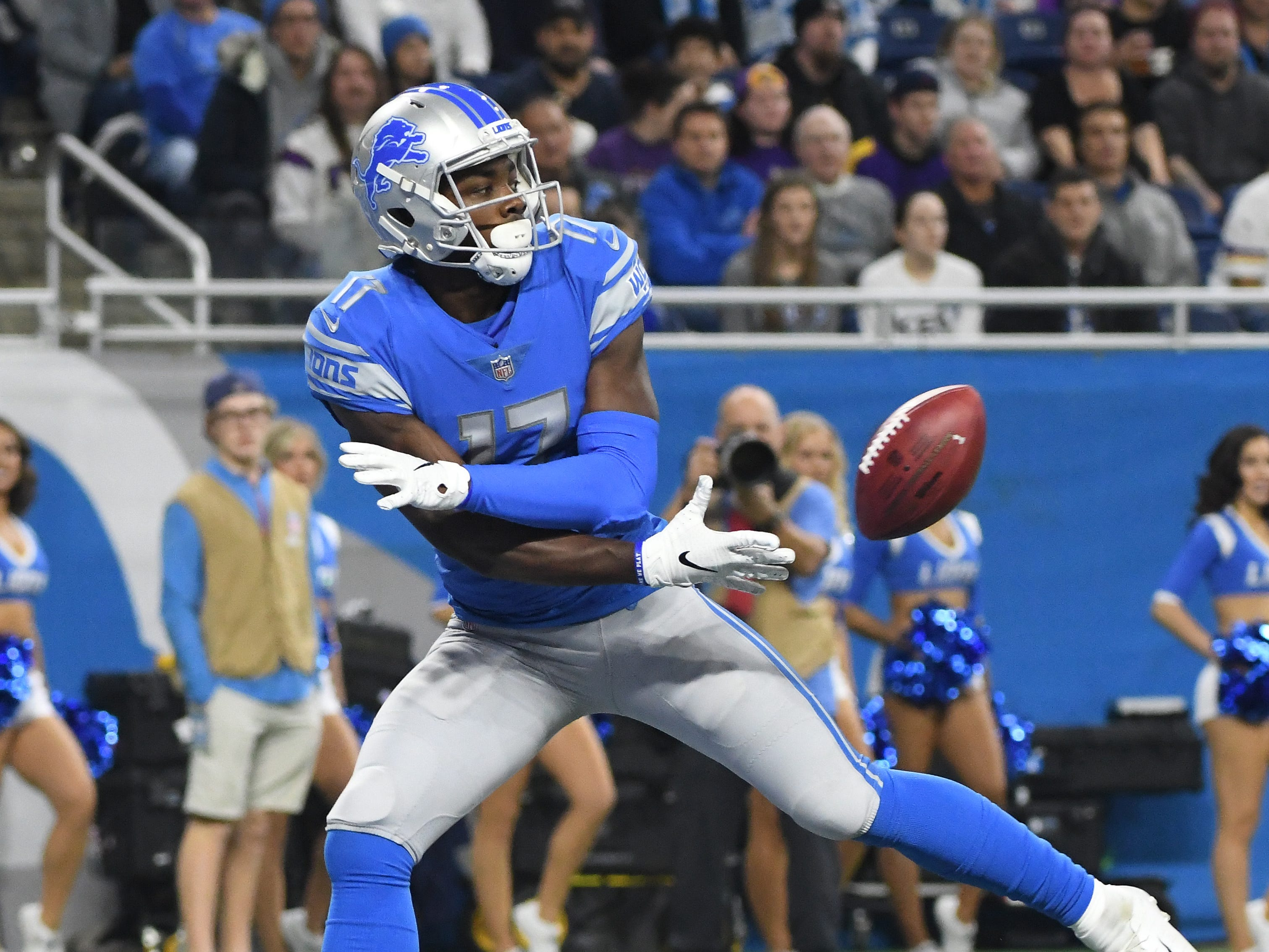 WR Andy Jones: Jones was never going to wow anyone with his receiving skills. In fact, he dropped two of his 22 targets. But he compensated for his lack of production as a pass catcher with impressive blocking ability and special-teams play. No Lions receiver, including Golladay, showed a knack from digging out a safety on a run play quite like Jones. And on a per-game basis, he was one of Detroit's top tacklers on special teams.  Grade: C-