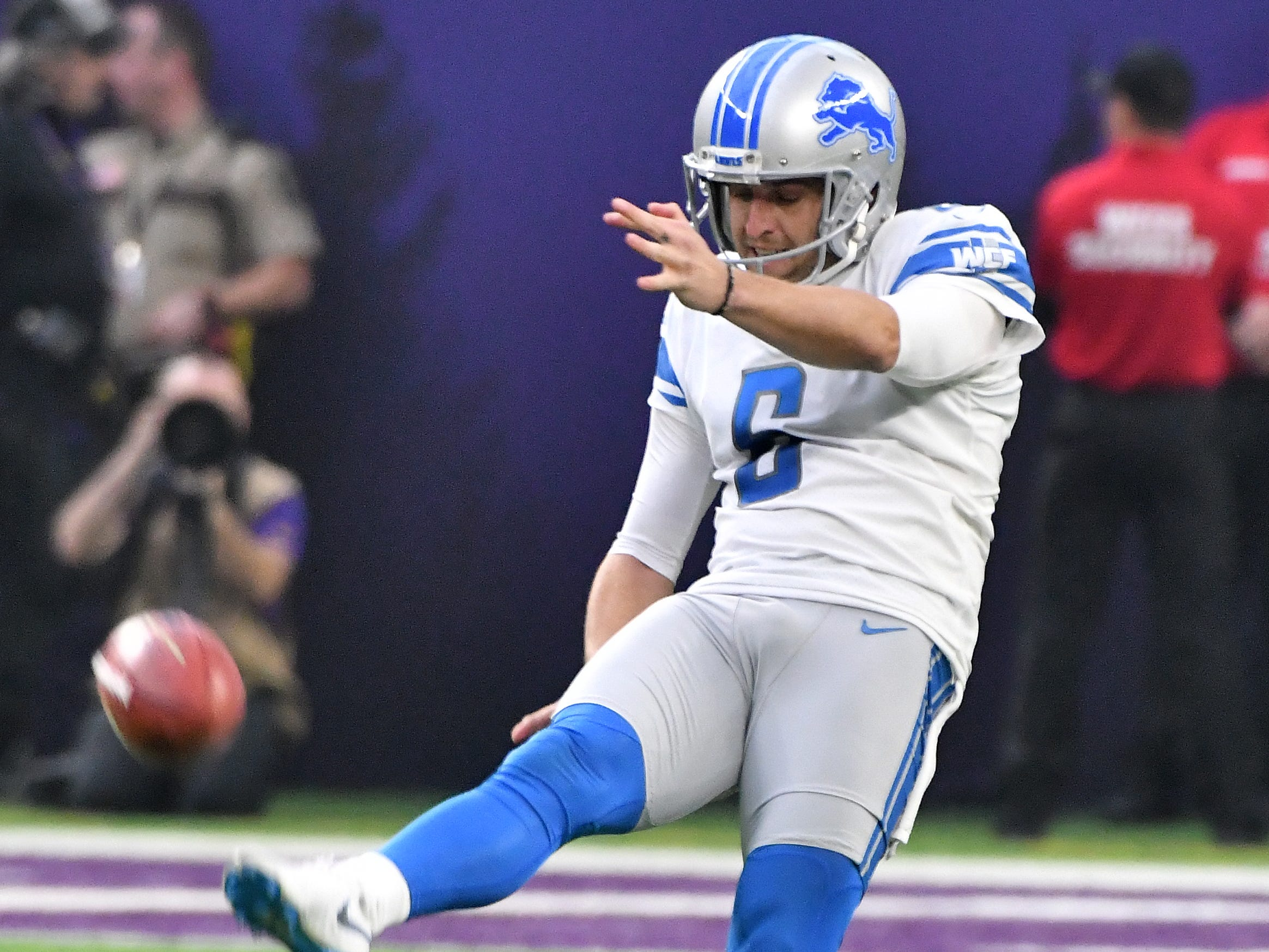 P Sam Martin: A good part of Martin's leg strength returned this season, after injury sapped his performance a year ago. Still, he's not at the level he was when he was breaking franchise records in 2016. This season's numbers are lower than they could have been because of field position and poor coverage units. Martin did finish near the top of the league in punts inside the 20 (32), with just four going into the end zone for touchbacks.  Grade: C+