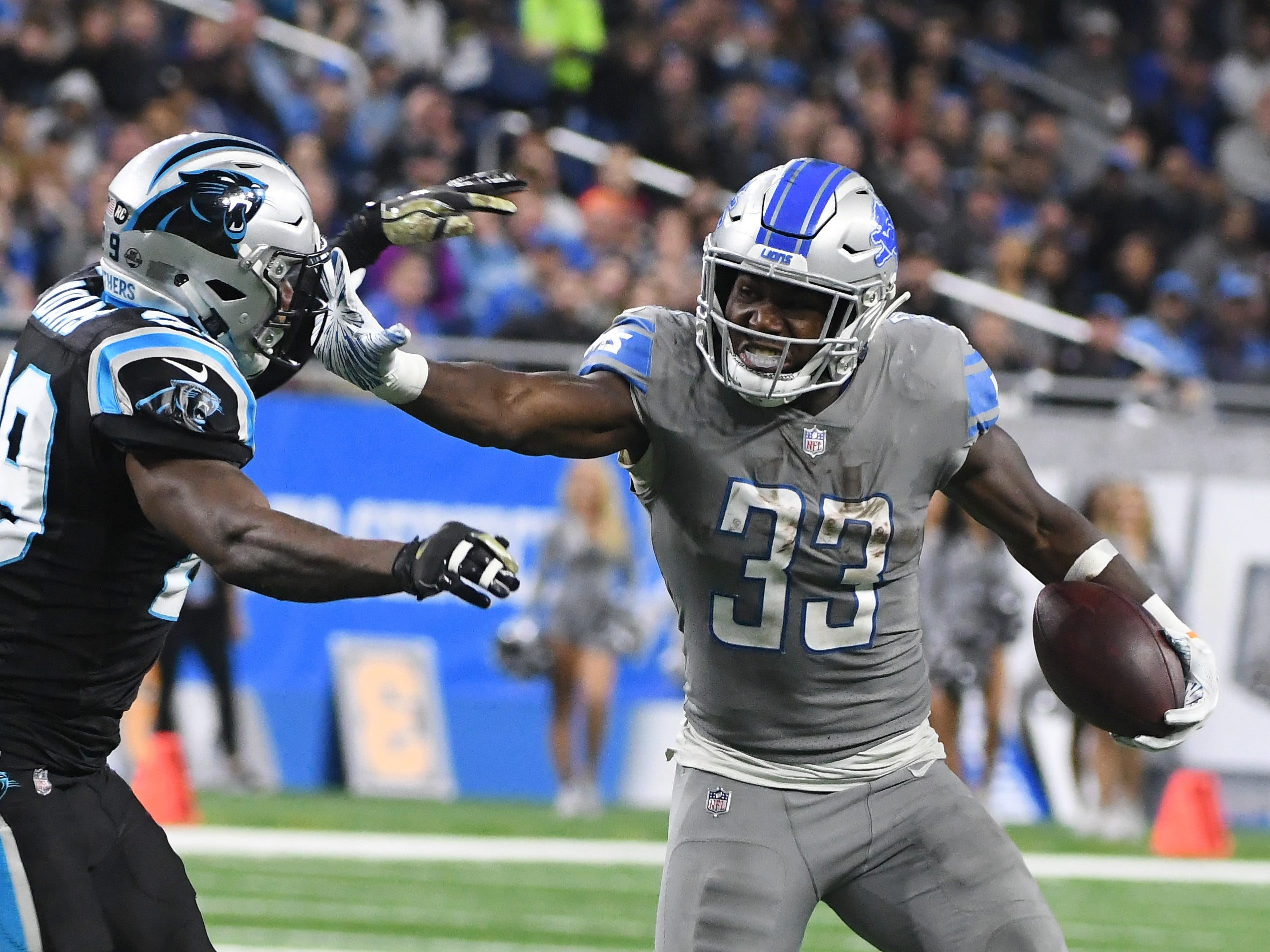 RB Kerryon Johnson: Johnson was everything the Lions needed him to be and then some before a knee injury sidelined him the final five weeks. The rookie out of Auburn ran with a mix of balance, vision and burst the organization hasn't seen in years. He averaged 5.4 yards per carry and showed better-than-expected skills as a receiver. Off the field, Johnson's football character was off the charts. He's an eager learner who doesn't shy away from accountability. Grade: A-
