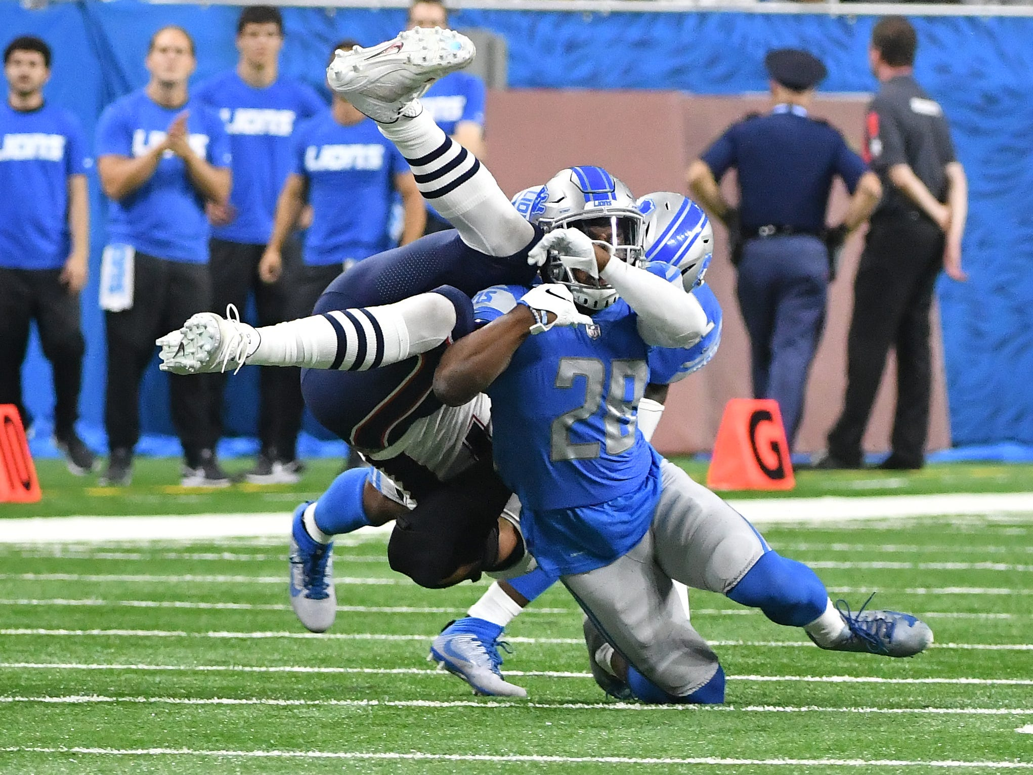 S Quandre Diggs: In his first season as a full-time safety, Diggs was solid. He missed an uncharacteristically high 10 tackles, but that comes with the territory when playing new angles from longer distances. He finished the year with 78 stops and chipped in three interceptions, including the Lions' first and last defensive plays of the year. Grade: B+