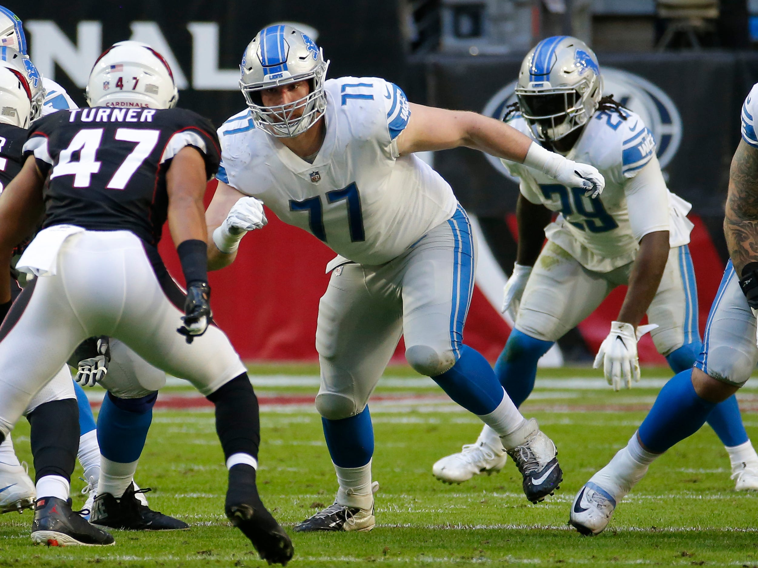 OG Frank Ragnow: Ragnow's rookie season was full of predictable ups and downs. He had a rough go of it as a pass protector early in the year, but settled down in the second half of the year, outside of a disastrous outing against Aaron Donald. The Lions also showed a willingness to run behind the rookie in short-yardage situations and more often than not, he was up to the task. Grade: C+