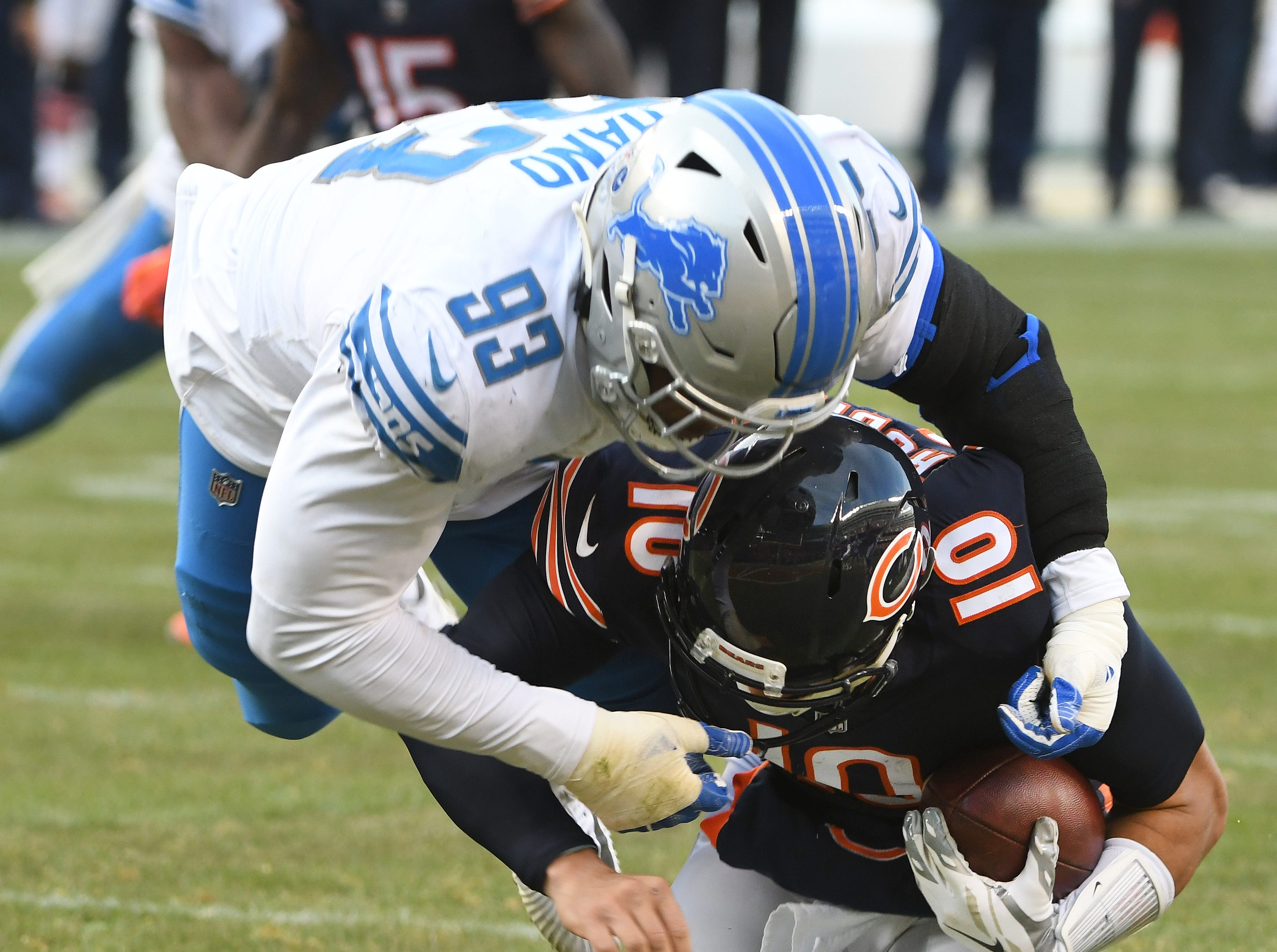 DT Da'Shawn Hand: The Lions appear to have scored a fourth-round steal in Hand, who stepped directly into a significant role in the rotation and produced at a high level. He led the team with 25 quarterback pressures from the inside and also proved to have an advanced feel for how to use his frame to defend the run. The only times he looked out of place was when facing a double team, but his play strength should develop with another offseason. Grade: A-