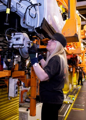 GM's Orion assembly plant. General Motors Co. is halting operations at 13 manufacturing facilities and three corporate locations.