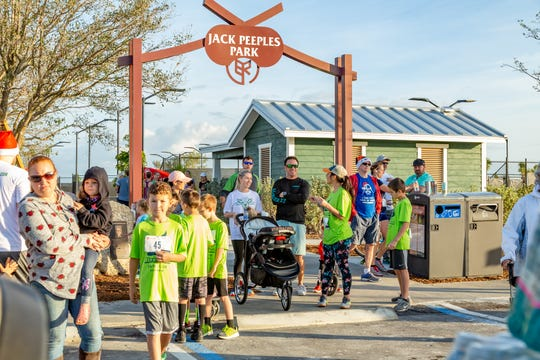 Babcock Ranch promotes healthy living through a walkable community plan, 50 miles of planned biking and hiking trails, and the new Jack Peeples Park that is open to the public.