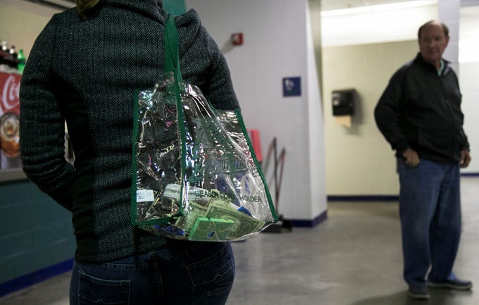 Approved see-through bags are allowed under the new security policy at Hertz Arena in Estero.