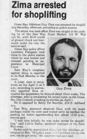 Former Alderman Guy Zima was arrested for shoplifting in 1980.