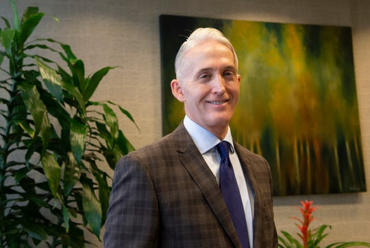 Former U.S. Congressman Trey Gowdy will be working at Nelson, Mullins, Riley and Scarborough in Greenville. Photo taken Thursday, Jan. 3, 2019.