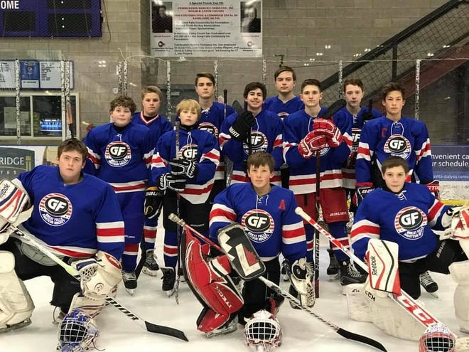 The Great Falls Americans U14 Bantam hockey squad is the host team for this weekend's Wally Floen Memorial tournament at the Great Falls IcePlex. Pictured are, 1st Row:  Goalies Samuel Gipe, Tanner Rust (A), Mathias O'Brien 2nd Row:  Royce Jendro, Bryson Heib, Liam Flaherty, Russell Rasmussen (A), Westin Weisenburger (C) 3rd Row:  Kohlton Masters, Jackson McCoy, Trevor Walker, Ian Gunn Head Coach:  Cliff Rust.  Assistant Coaches:  Rob Rasmussen, Casey Strozzi, Konstantin Izotov. Team Manager:  Jamie Gipe.