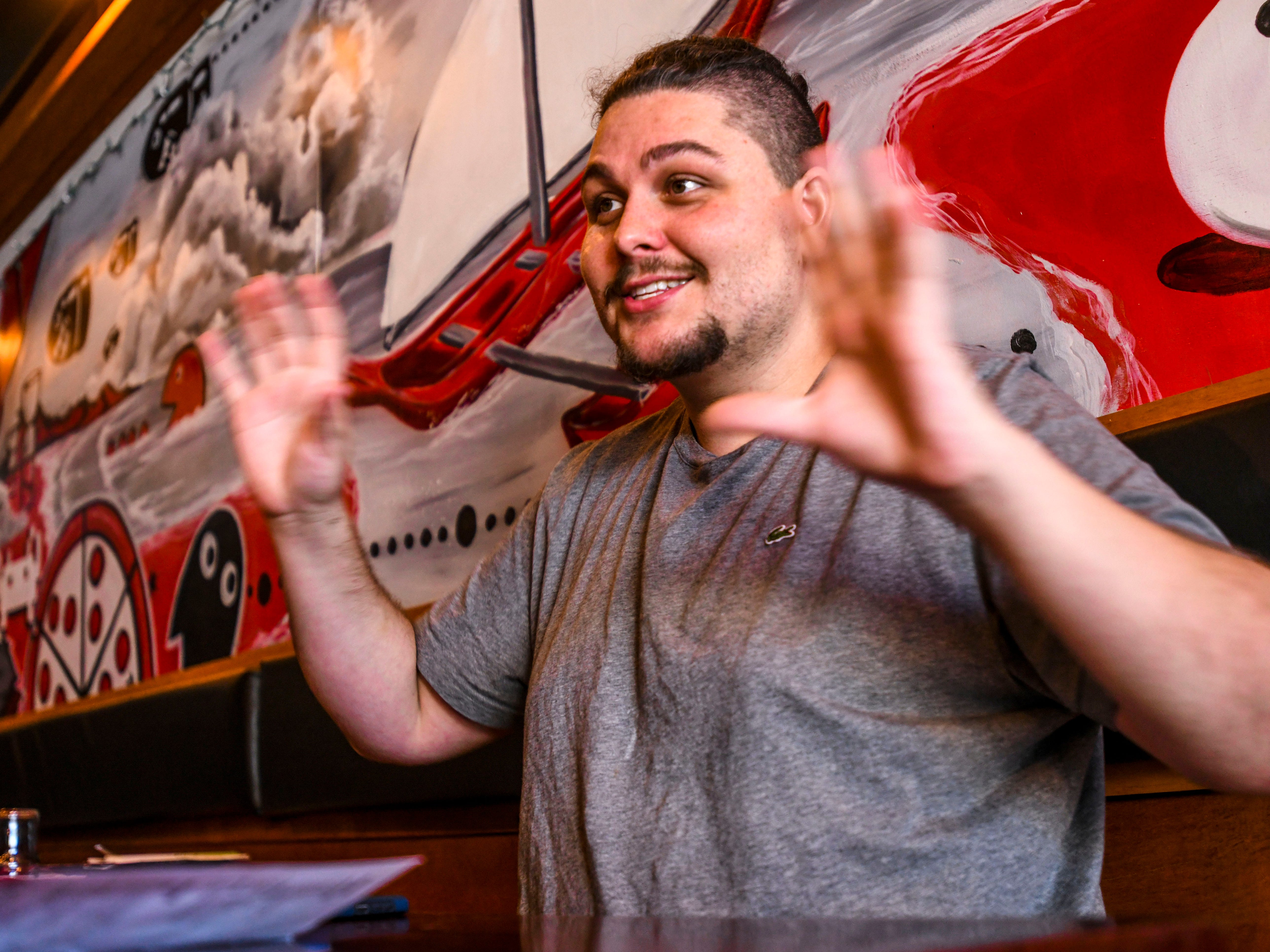 Dylan Saad, chef and owner of Primo Pizzakaya, describes the atmosphere diners may experience during their visit to his Tumon pizzaria-type restaurant during an interview on Wednesday, Jan. 2, 2019.