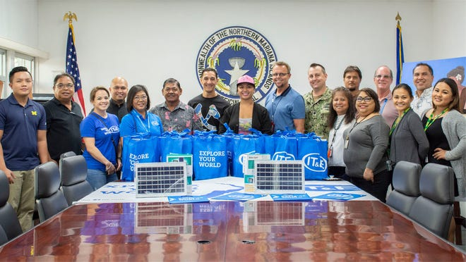 IT&E provided more than 1,000 solar lamps to help families without power in the aftermath of Super Typhoon Yutu. IT&E presented the lamps to its community partners on December 7, 2018 including the CNMI Office of the Governor, Acting Governor Victor B. Hocog, U.S. Department of Defense, Federal Emergency Management Agency, Marianas Young Professionals, the Saipan Marianas Lions Club, and Bishop Ryan P. Jimenez of the Diocese of Chalan Kanoa.