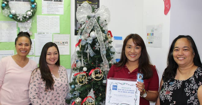 "Congratulations to iLearn Academy Charter School teachers who were voted as favorites by their students through Sylvan Learning Center's ""My Favorite Teacher."" iLearn Academy Charter School came in 5th place with the most student votes. Sylvan's Director, Crystal Nelson, presented each teacher with a certificate on December 11, 2018. From left: Marti Leigh Sanchez, Yvonne Miranda, Maria Barque-Singh, and Helen Nishihira."
