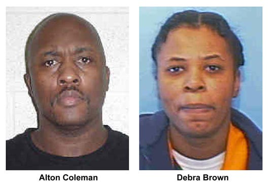 Convicted killers Alton Coleman and Debra Brown are shown in these undated photos from the Ohio Department of Rehabilitation and Correction. Coleman was executed in Ohio Friday April 26 2002 for the murder of Marlene Walters in Norwood. Brown was also convicted of murder in the seven-week, five-state crime spree had her death penalty commuted to a life sentence. (AP Photo/Ohio Department of Rehabilitation and Correction File)