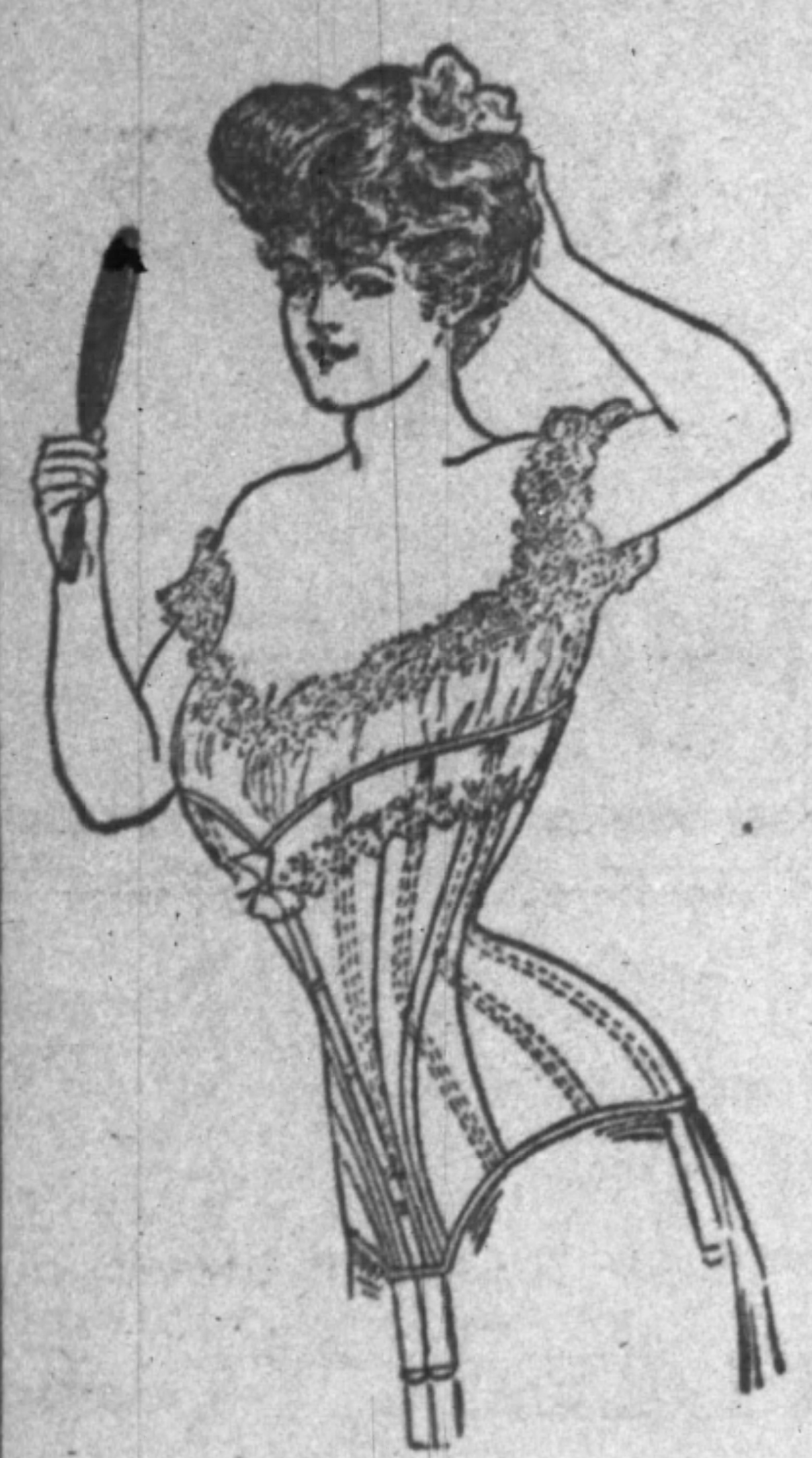 Whalebone corset in 1907