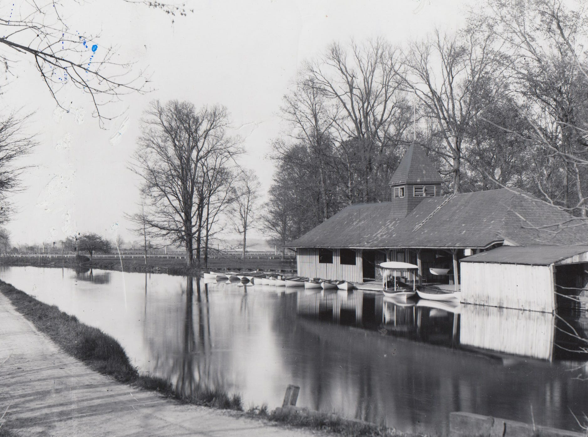 Boat house at Fairview Park along the Central Canal in 1903..