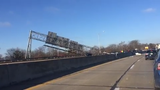 Raw video: Southbound I-65 closed after truck hits bridge