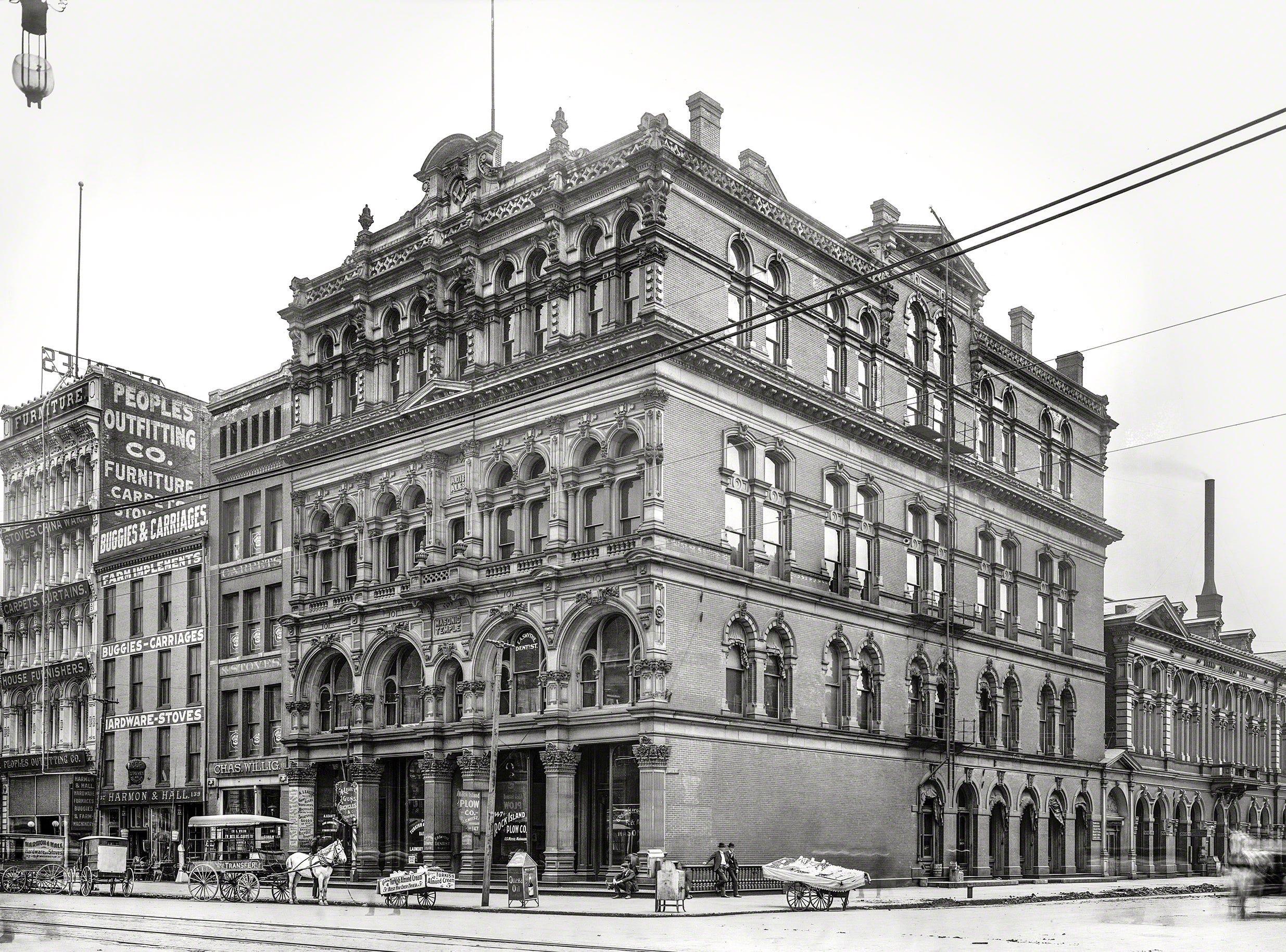 Masonic Temple, Washington Street and Capital in 1906.