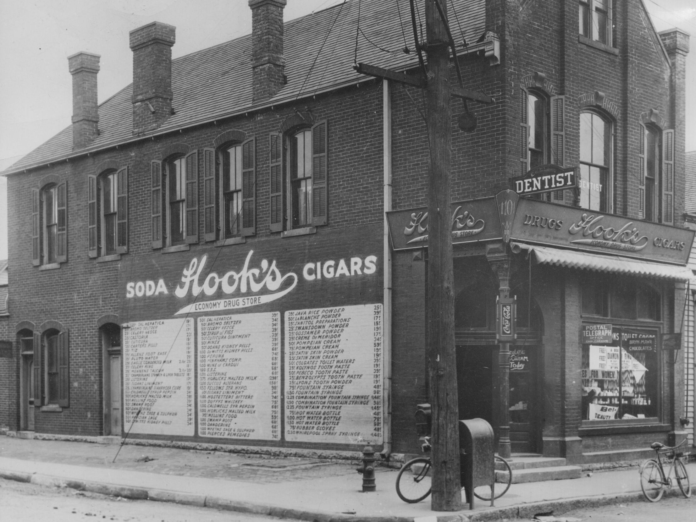 The first Hook Drug Store was at the intersection of Southeast and Prospect Streets in 1900 until it was razed in 1941.