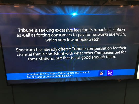 Tribune-owned CBS4 was no longer available to Spectrum subscribers on Jan. 2.