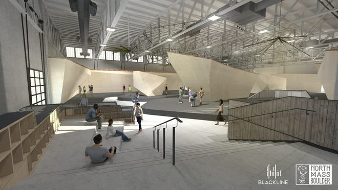A rendering of the interior of North Mass Boulder at 1409 Roosevelt Ave.