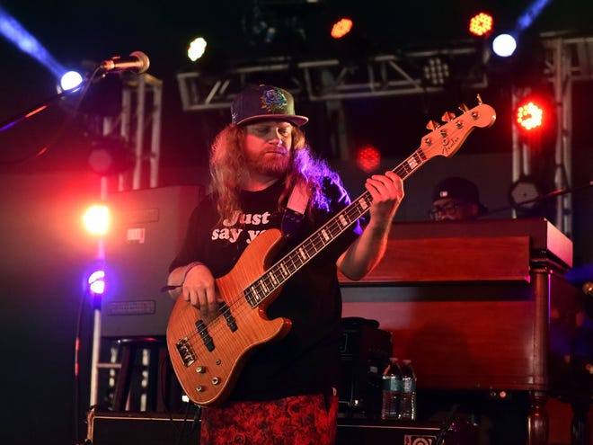 """Bass player Erick """"Jesus"""" Coomes will perform with Lettuce Jan. 15 at the Vogue."""