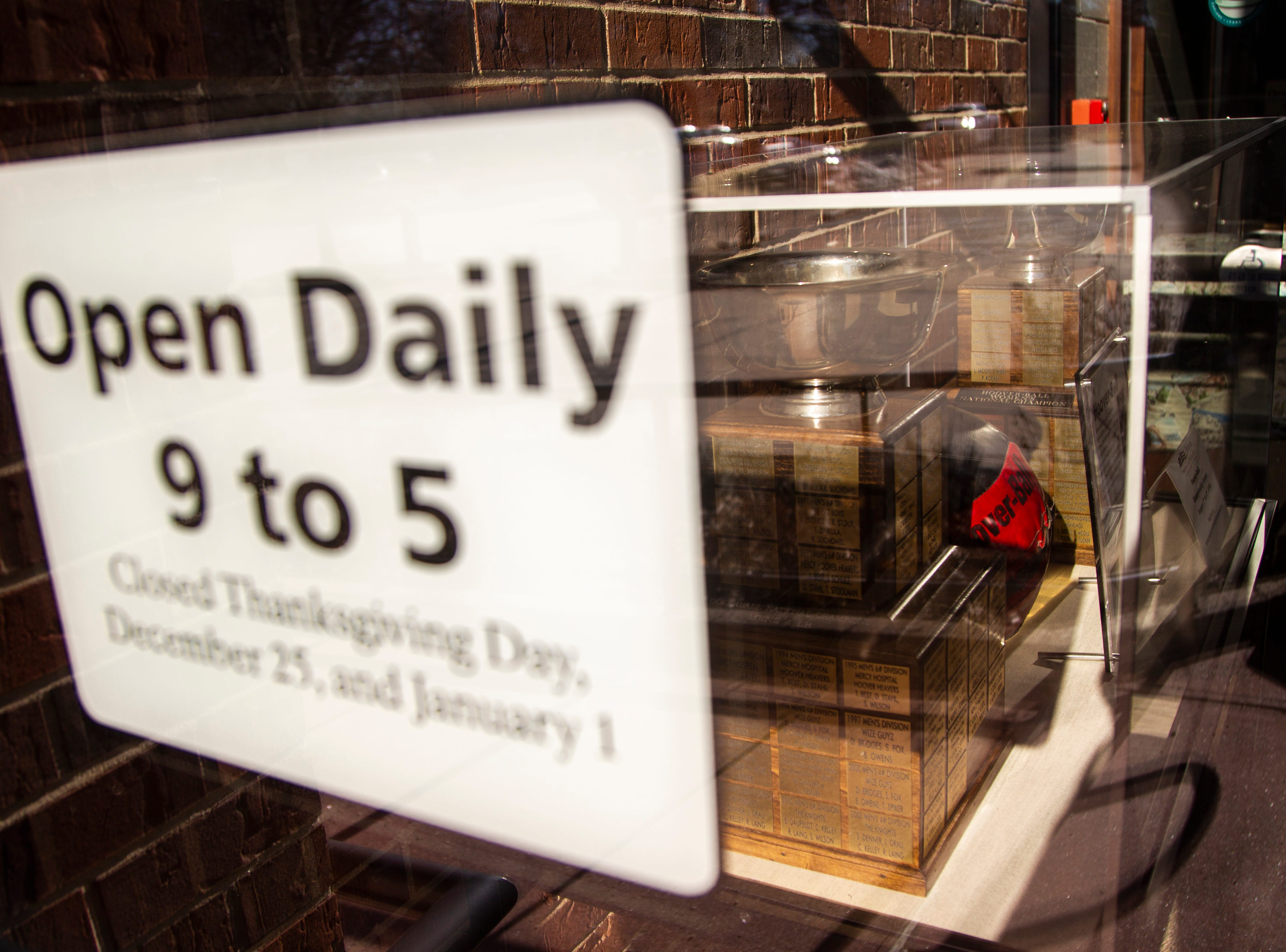"A sign reads ""Open Daily"" on Thursday, Jan. 3, 2019, at the Herbert Hoover National Historic Site in West Branch, Iowa."