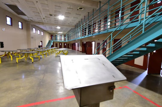 A guard's stand in a cell block of Walnut Grove Correctional Facility remains empty. While the state closed the facility in 2016, Mississippi taxpayers are still paying the $97.4 million the state owes on the facility and related services. Thursday, Dec. 20, 2018
