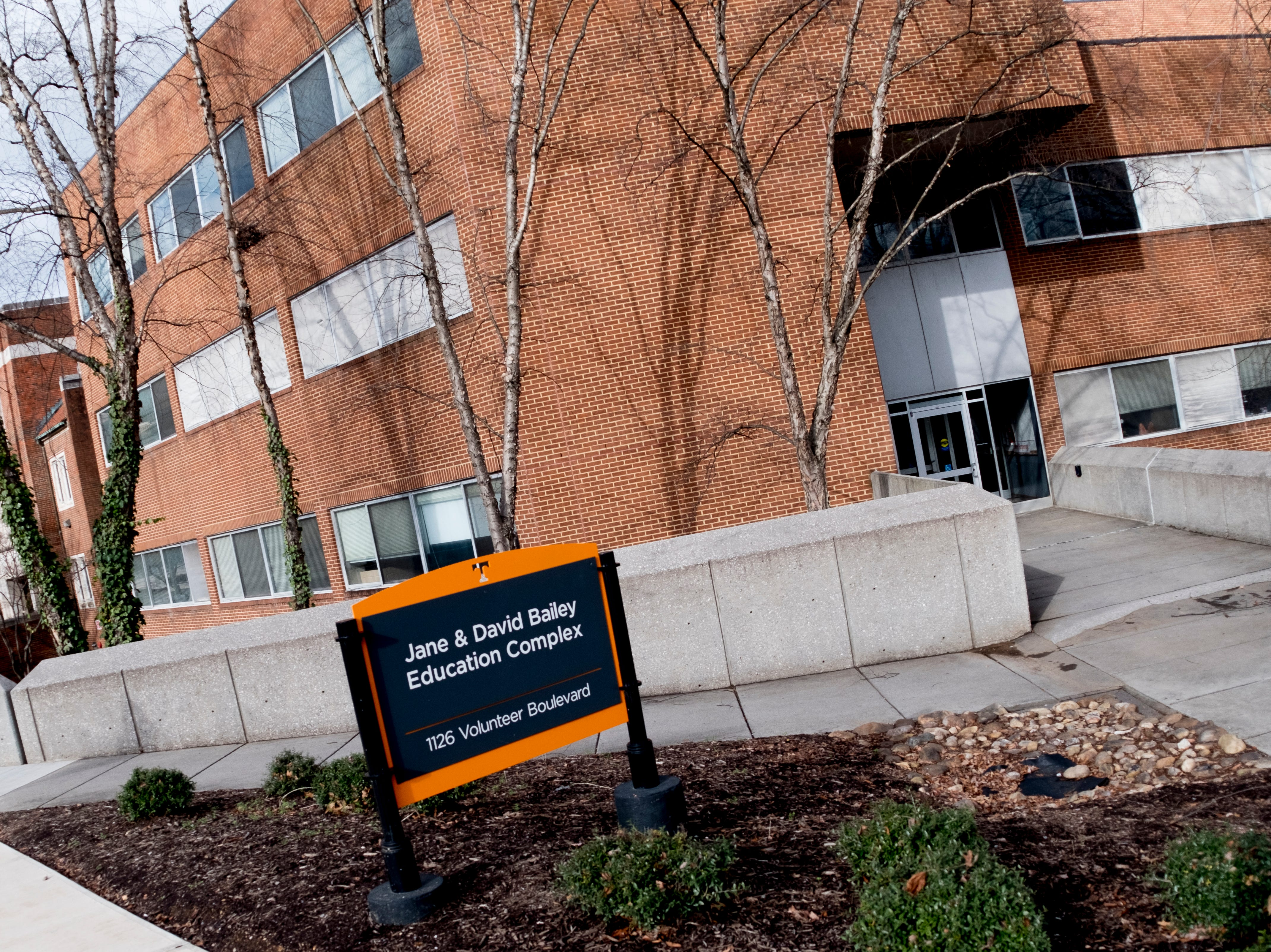 Jane & David Bailey Education Complex on the University of Tennessee campus in Knoxville, Tennessee on Tuesday, January 1, 2019.