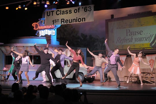 Performers dance during a Dollywood show.