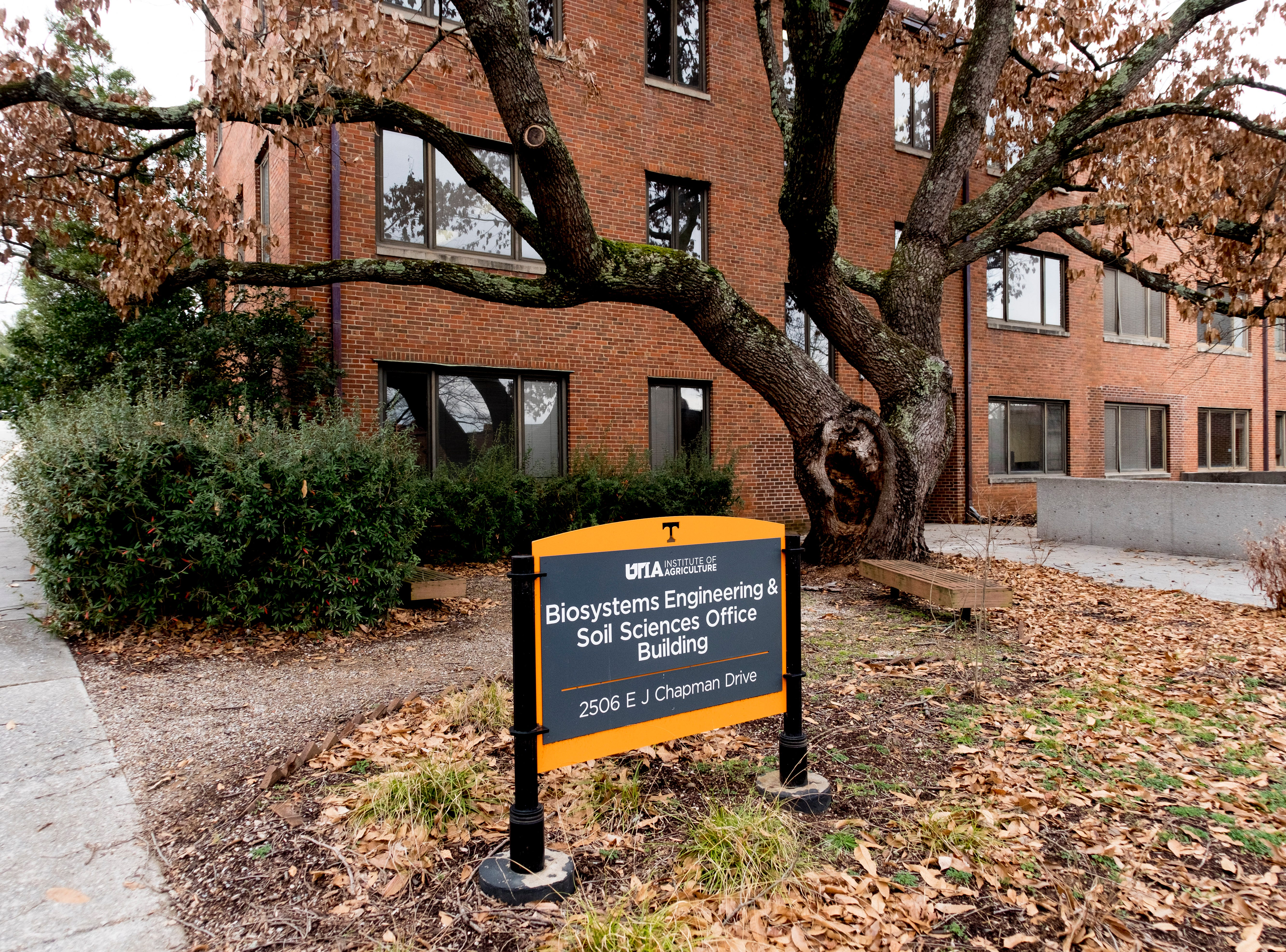 Biosystems Engineering and Environmental Sciences Offices on the University of Tennessee campus in Knoxville, Tennessee on Wednesday, January 2, 2019.