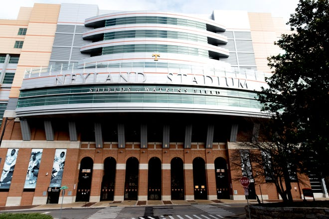 Neyland Stadium on the University of Tennessee campus in Knoxville, Tennessee on Tuesday, January 1, 2019.