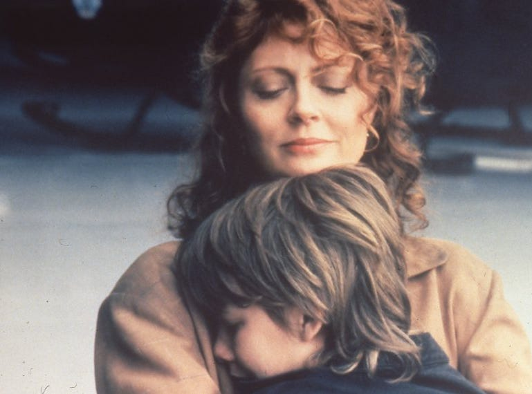 "Brad Renfro and Susan Sarandon in ""The Client""."