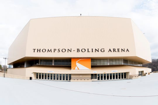 Thompson-Boling Arena on the University of Tennessee campus in Knoxville, Tennessee on Tuesday, January 1, 2019.